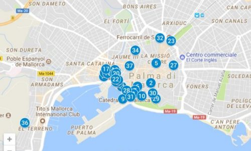 Mappa Palma di Maiorca